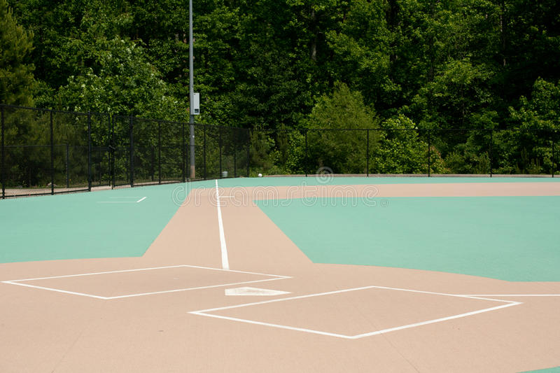 Baseball Field For The Disabled Stock Image