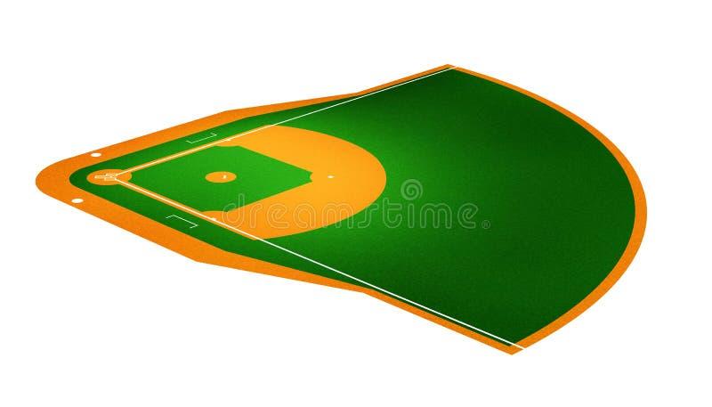 Baseball field stock image