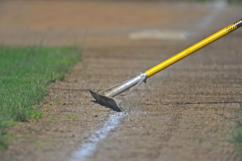 Baseball Field Maintenance royalty free stock images