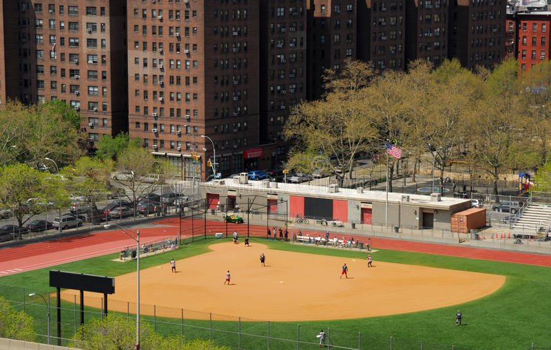 Baseball field in New York City. Photo taken at 23rd of April 2008 royalty free stock image