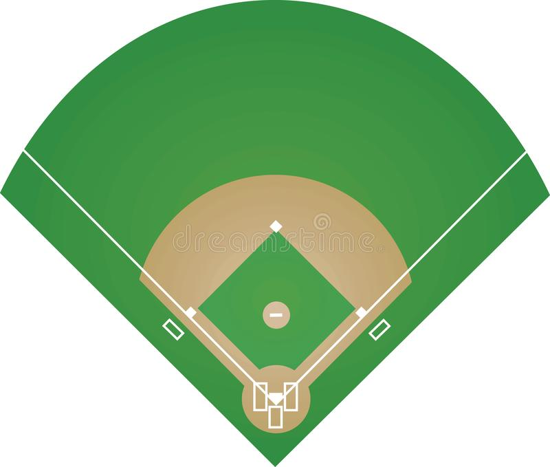baseball field on white background stock vector illustration of rh dreamstime com baseball field vector free download baseball field vector free download