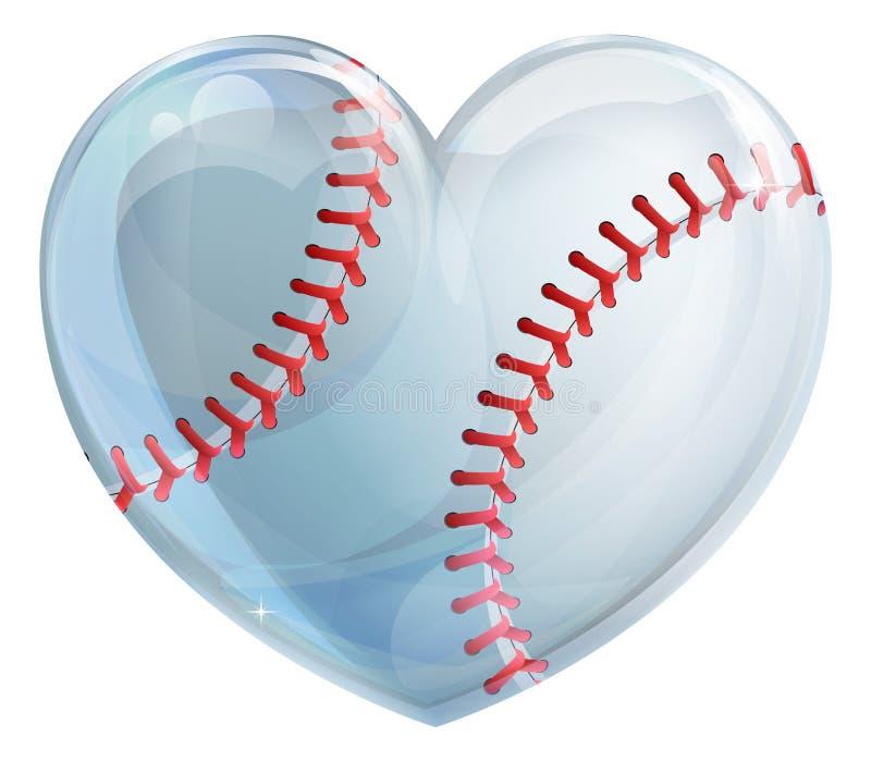 Baseball a forma di del cuore royalty illustrazione gratis