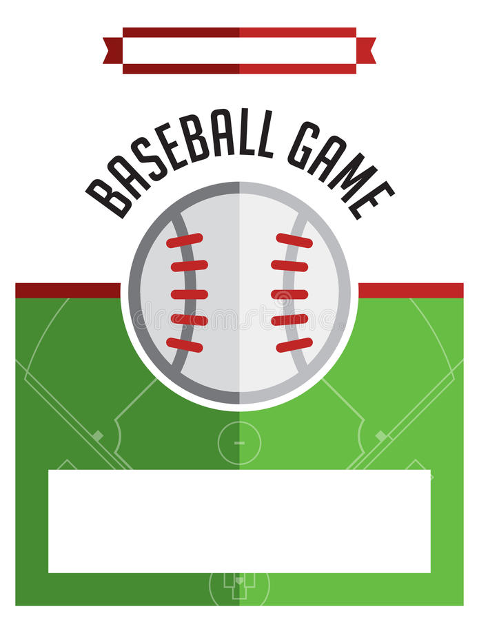 Baseball Game Flyer Illustration Stock Vector - Illustration of ...