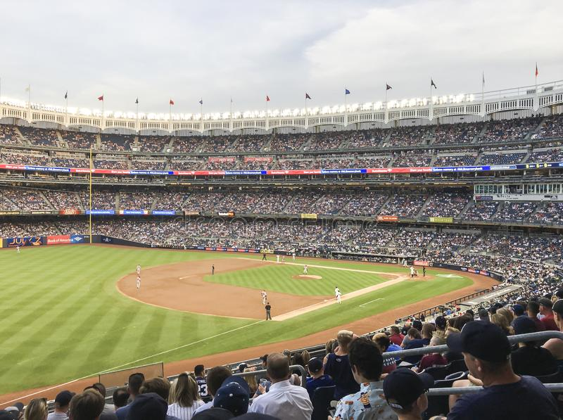 New York, USA; June 22, 2017; Match between the New York Yankees and Los Angeles Angels at Yankee Stadium royalty free stock image