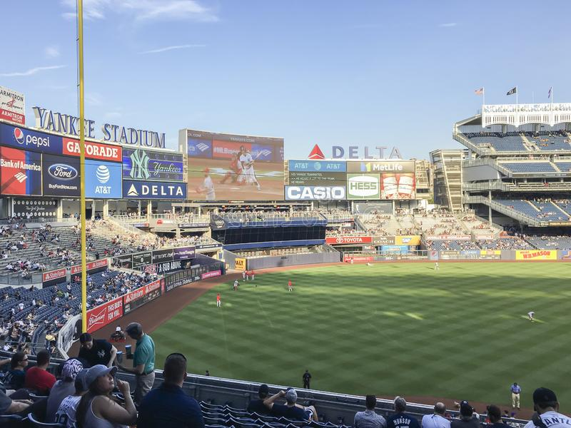 New York, USA; June 22, 2017; Match between the New York Yankees and Los Angeles Angels at Yankee Stadium royalty free stock photo