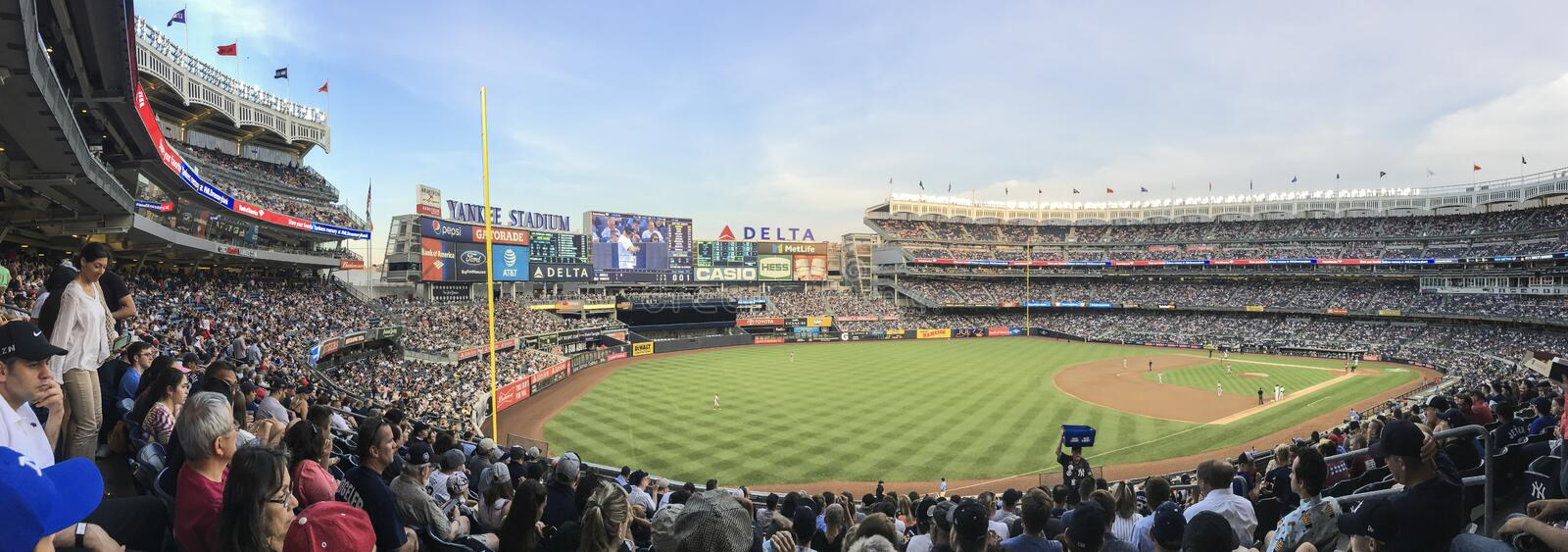 New York, USA; June 22, 2017; Match between the New York Yankees and Los Angeles Angels at Yankee Stadium royalty free stock images