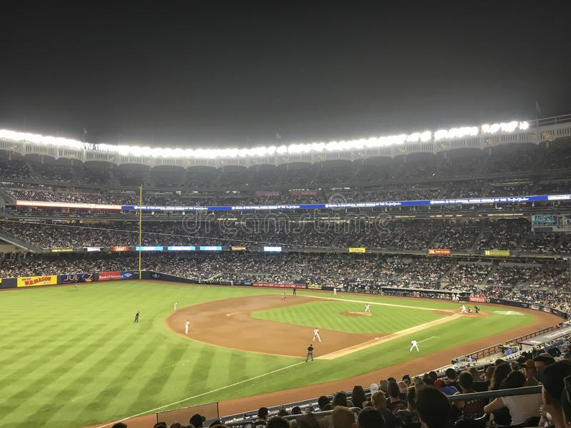 New York, USA; June 22, 2017; Match between the New York Yankees and Los Angeles Angels at Yankee Stadium stock image