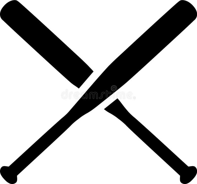 Baseball gekreuzte Schläger stock abbildung