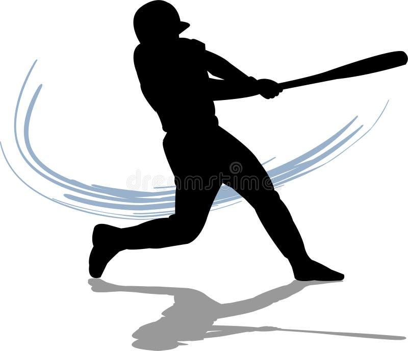 Baseball-geschlagener Eierteig vektor abbildung