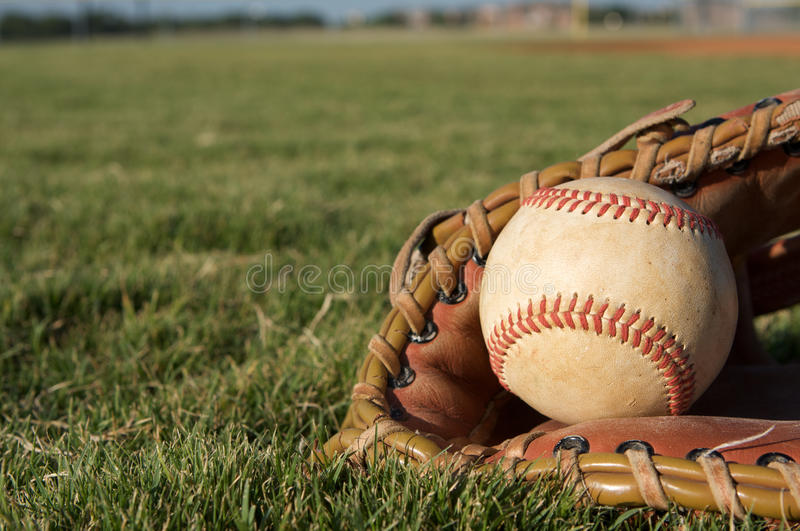 Download Baseball in a Glove stock photo. Image of outfield, glove - 15450368