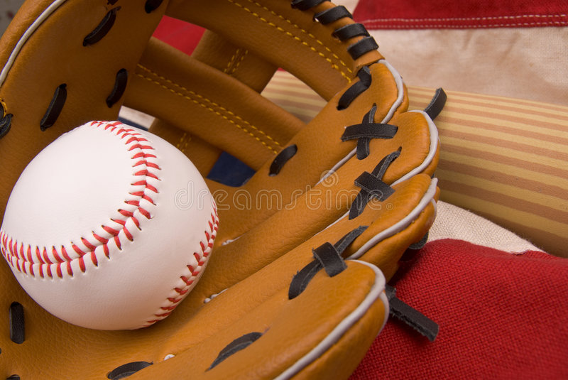 Download Baseball glove and ball stock image. Image of play, team - 4024467