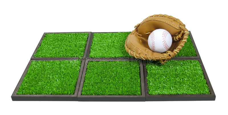 Download Baseball Glove And Ball On Artificial Grass Stock Photo - Image: 22484814