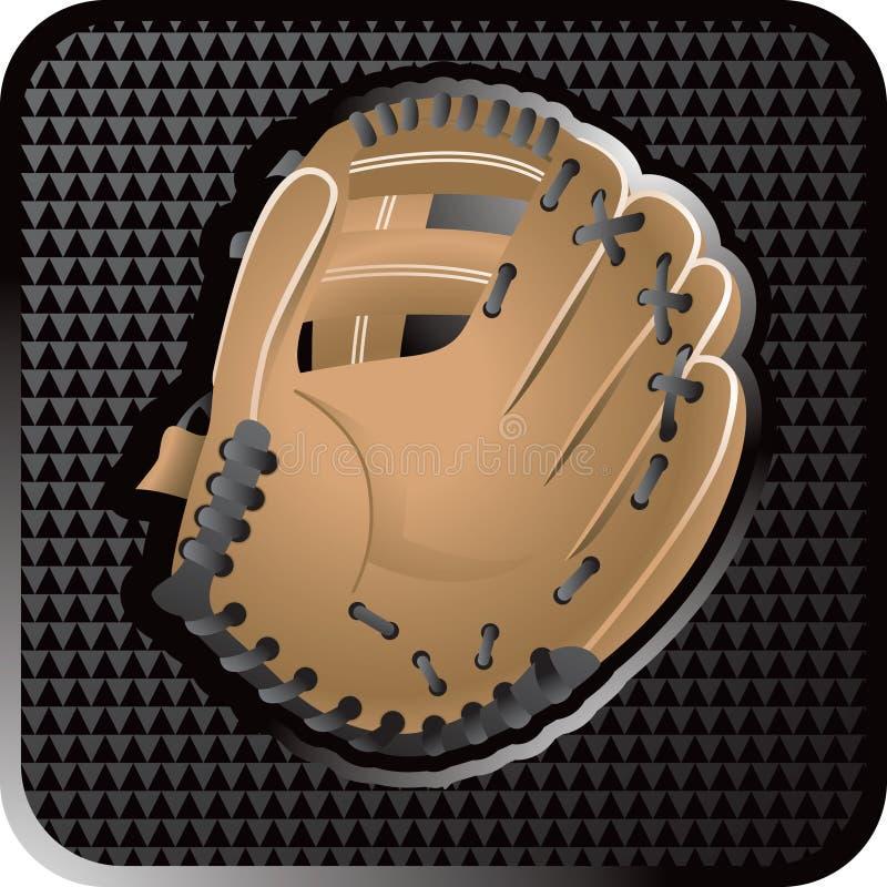 Baseball glove web icon vector illustration