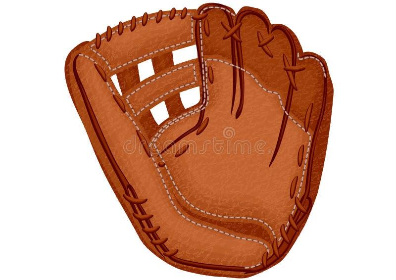 Baseball glove. On a white background stock illustration