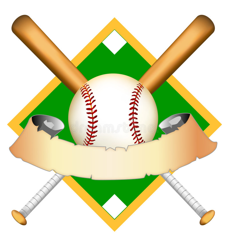 Baseball graphic Illustration stock illustration