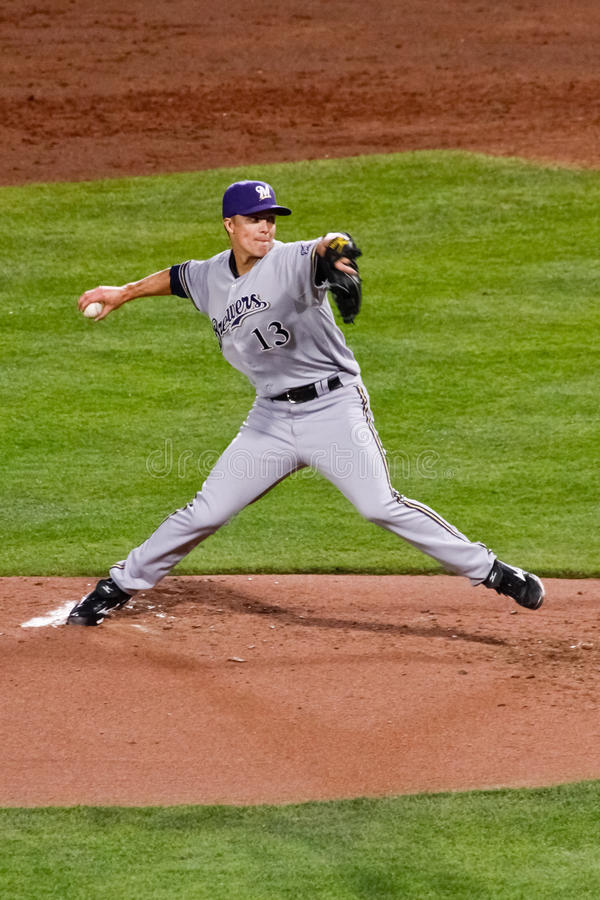 Download Baseball - Greinke With The Pitch! Editorial Stock Photo - Image: 20837813