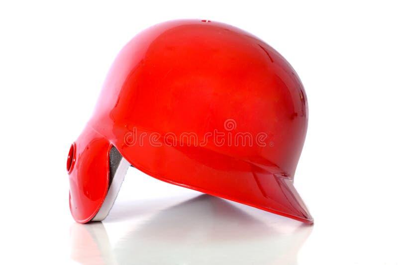 baseball hełmu czerwony zdjęcia stock