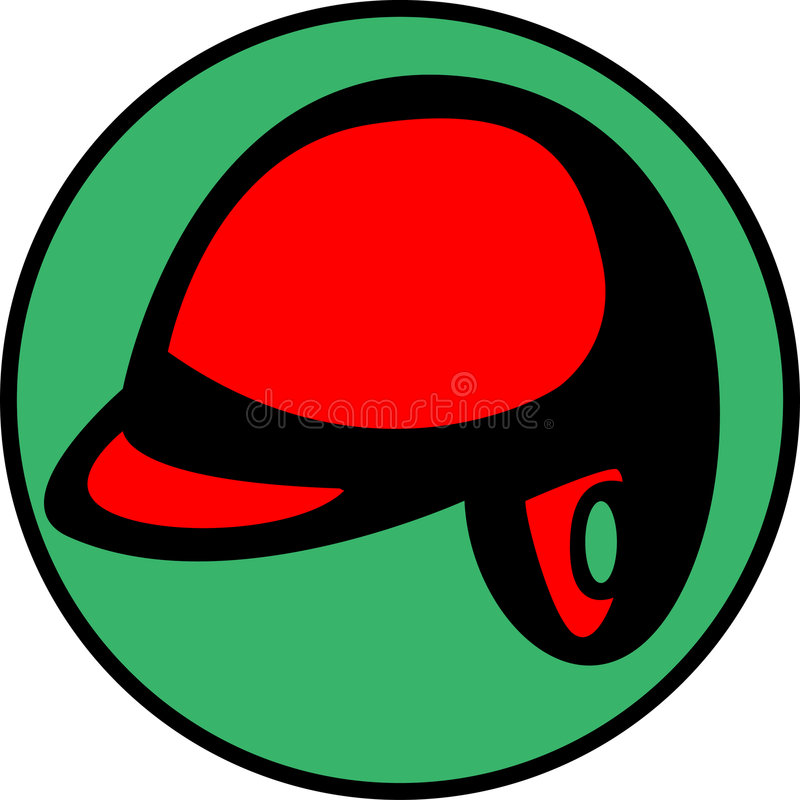 Baseball helmet or hard hat. Vector available royalty free illustration