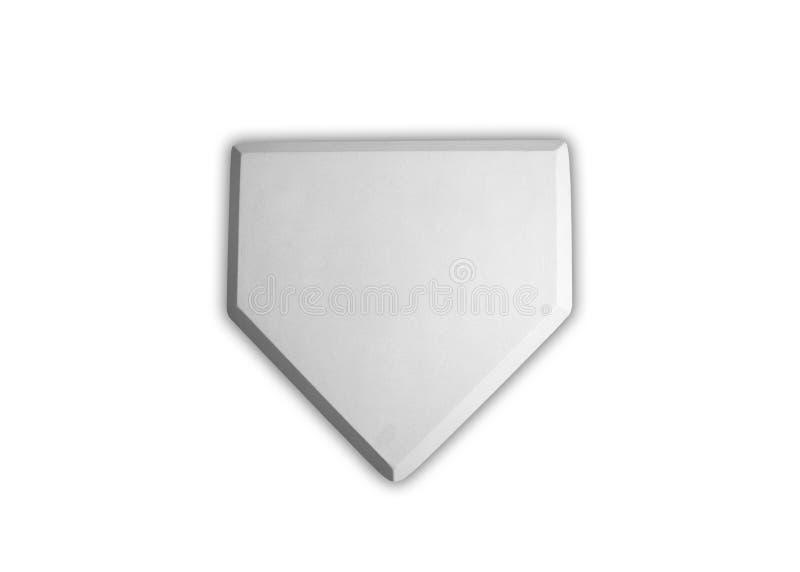 Baseball home plate base royalty free stock image