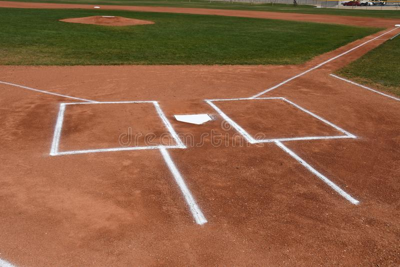 Wondrous Baseball Home Plate And Batters Box Stock Image Image Of Beutiful Home Inspiration Cosmmahrainfo