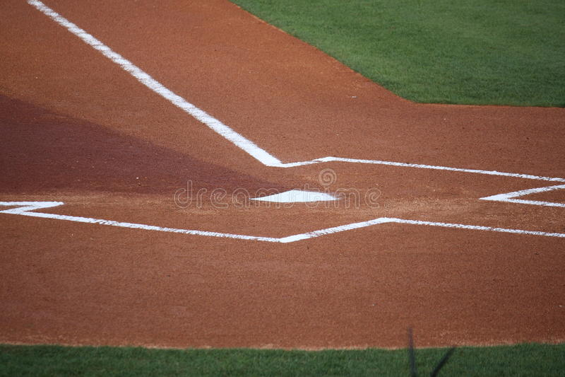Baseball Homeplate stock image