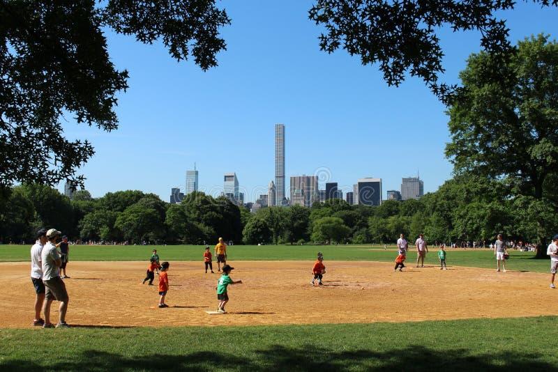 Baseball i Central Park arkivbilder