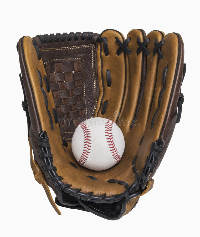 Baseball i rękawiczka fotografia stock
