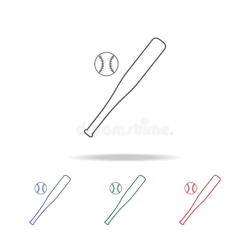 Baseball icon. Elements of education multi colored icons. Premium quality graphic design icon. Simple icon for websites, web desig vector illustration