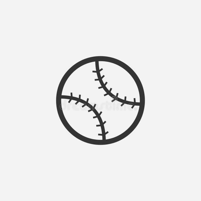 Baseball ikona, sport, piłka, drużyna royalty ilustracja