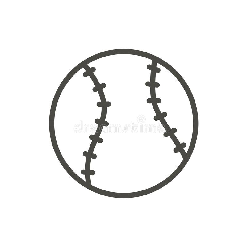 Baseball ikony balowy wektor Kreskowy baseballa symbol ilustracji