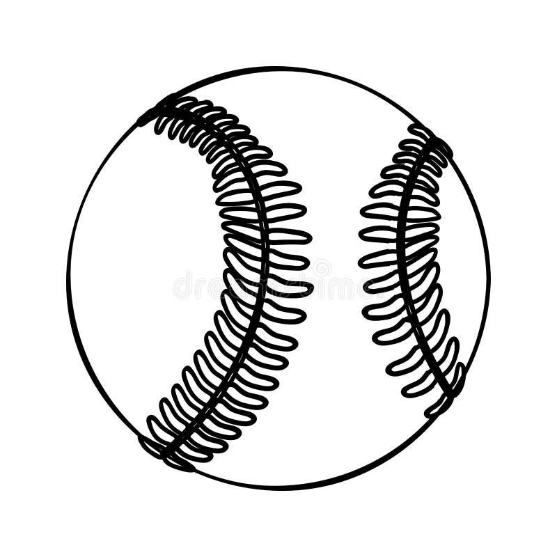Baseball ikony balowy wizerunek ilustracja wektor