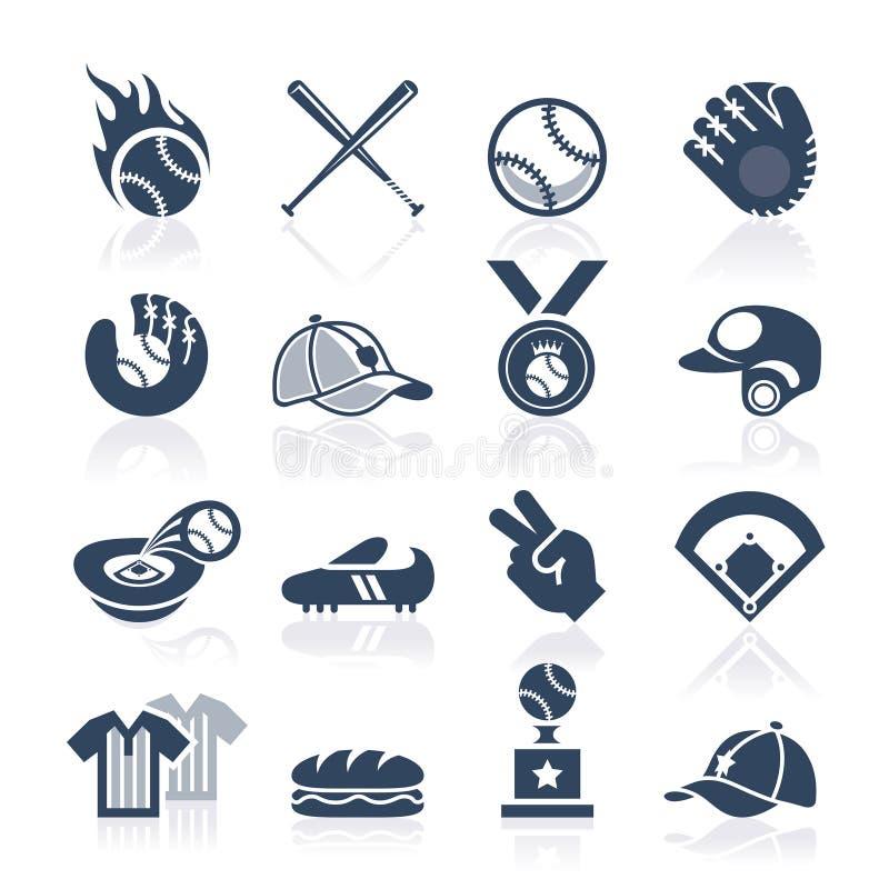 Baseball ikony set obraz stock