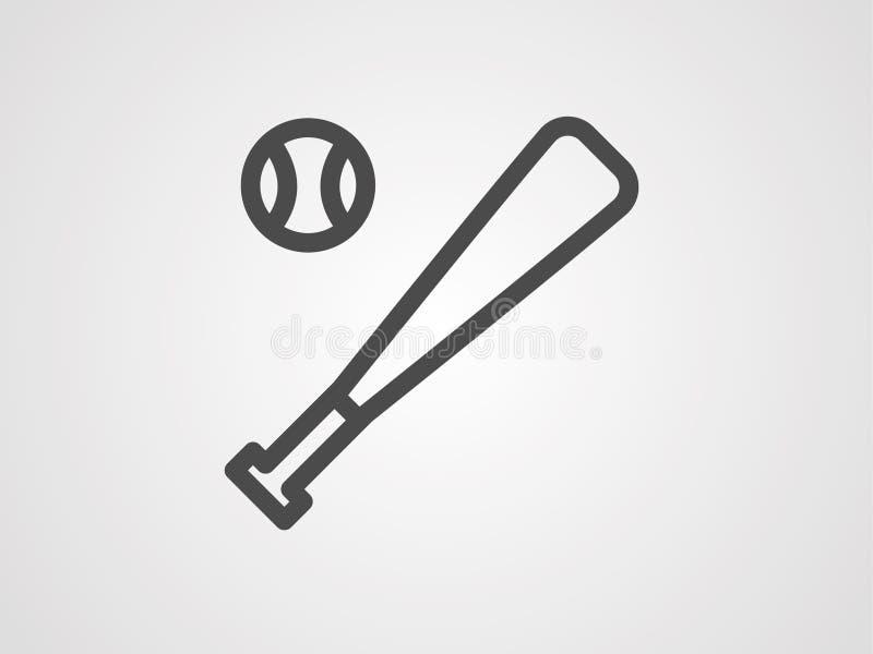 Baseball ikony znaka wektorowy symbol royalty ilustracja