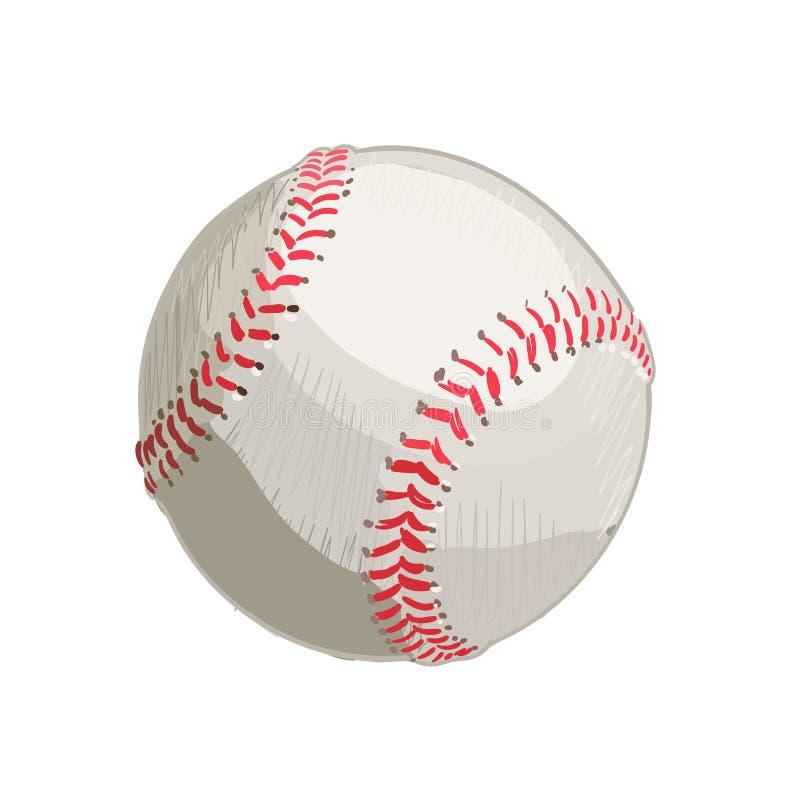 baseball Ilustração desenhada mão do vetor ilustração do vetor