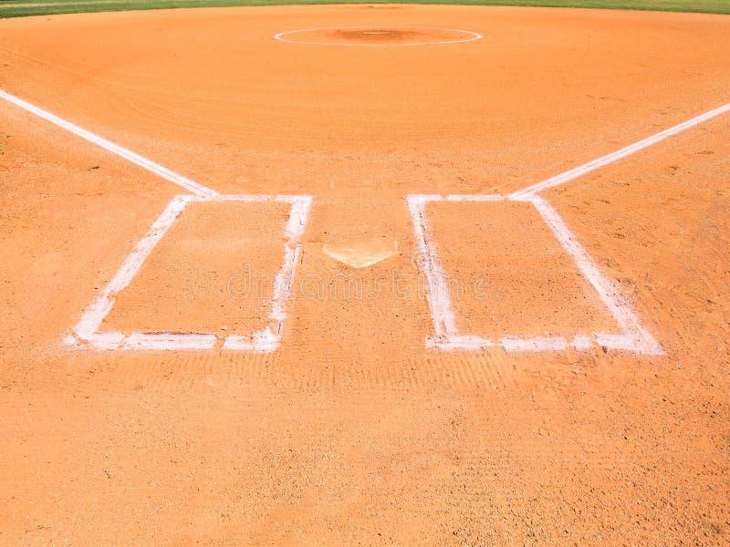 Baseball-Innenfeld lizenzfreies stockfoto