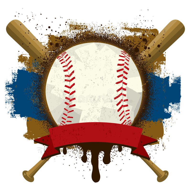 Baseball Insignia royalty free illustration