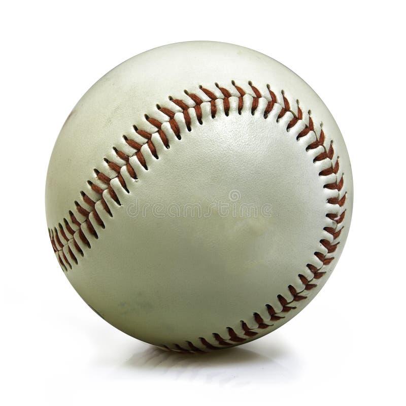 Baseball isolato su bianco fotografia stock