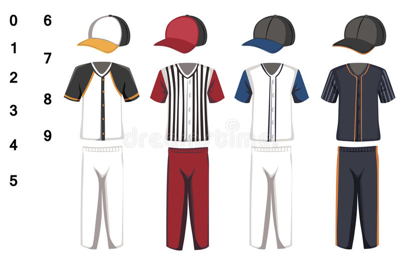Baseball jersey royaltyfri illustrationer