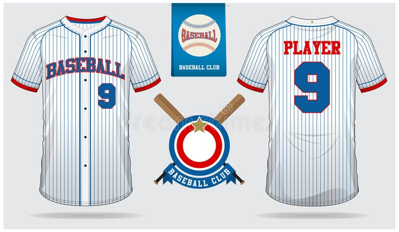 Baseball jersey, sport uniform, raglan t-shirt sport, short, sock template. Baseball t-shirt mock up. Flat baseball logo. Baseball jersey, sport uniform, raglan royalty free illustration
