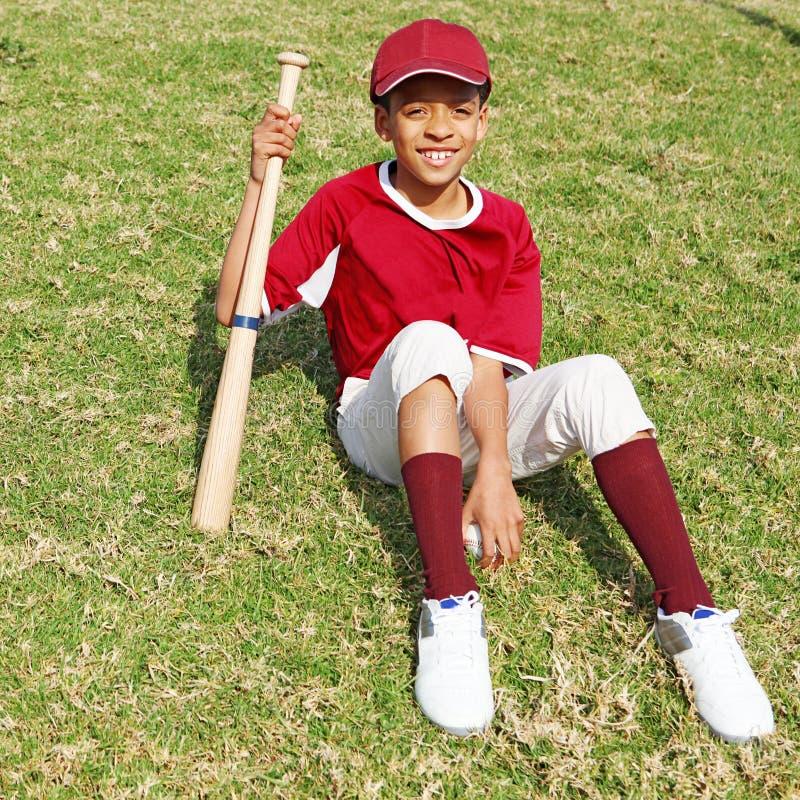 Baseball kid stock image