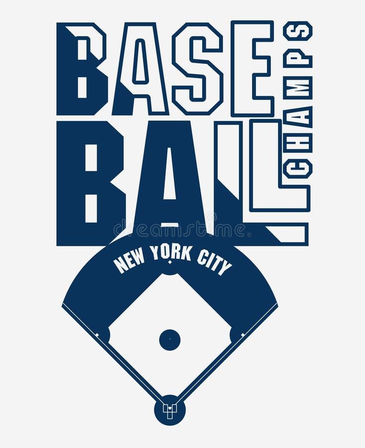 Baseball koszulki druk Mody typografii znaczek wektor ilustracja wektor