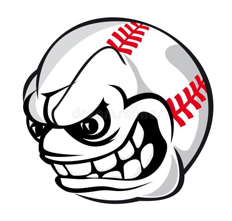 Baseball kreskówki piłka royalty ilustracja