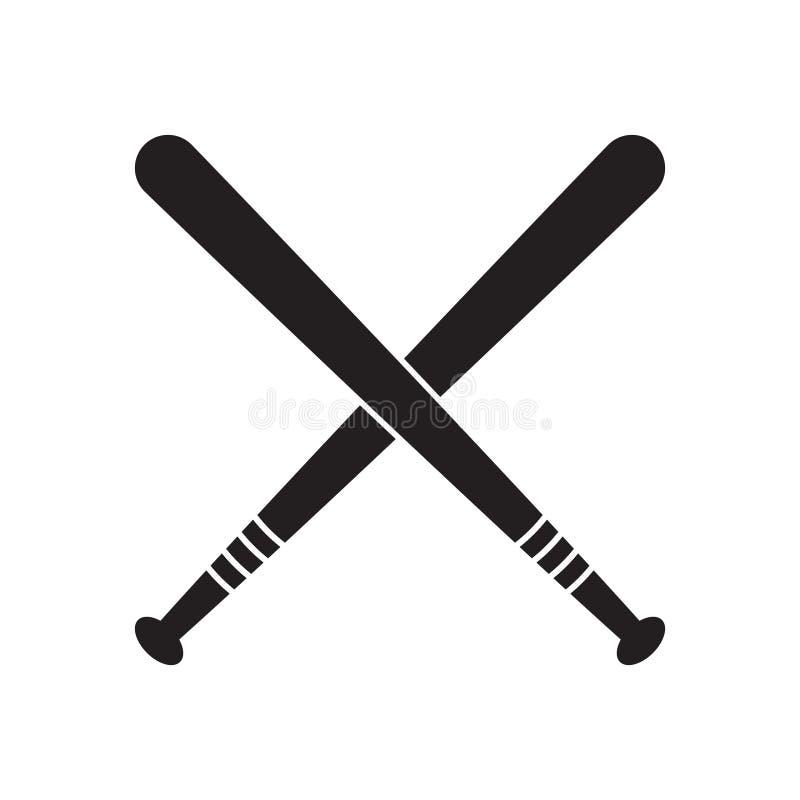 Baseball Krzyżujący Uderza wektorową ilustrację, odosobniona ikona ilustracja wektor
