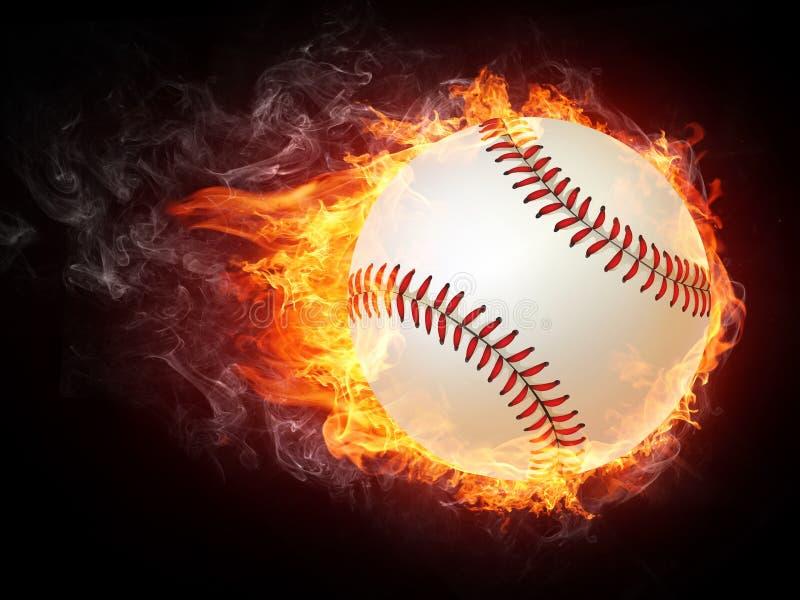 Baseball-Kugel lizenzfreie abbildung