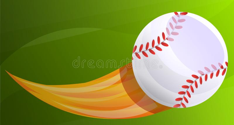 Baseball kuli ognistej pojęcia sztandar, kreskówka styl ilustracja wektor