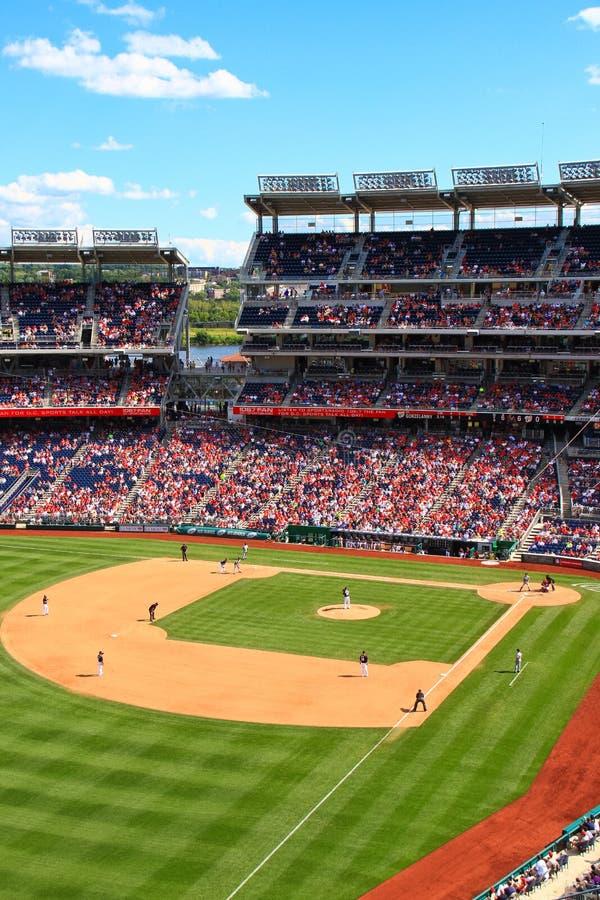Baseball - lek för medborgareParkdag arkivbilder