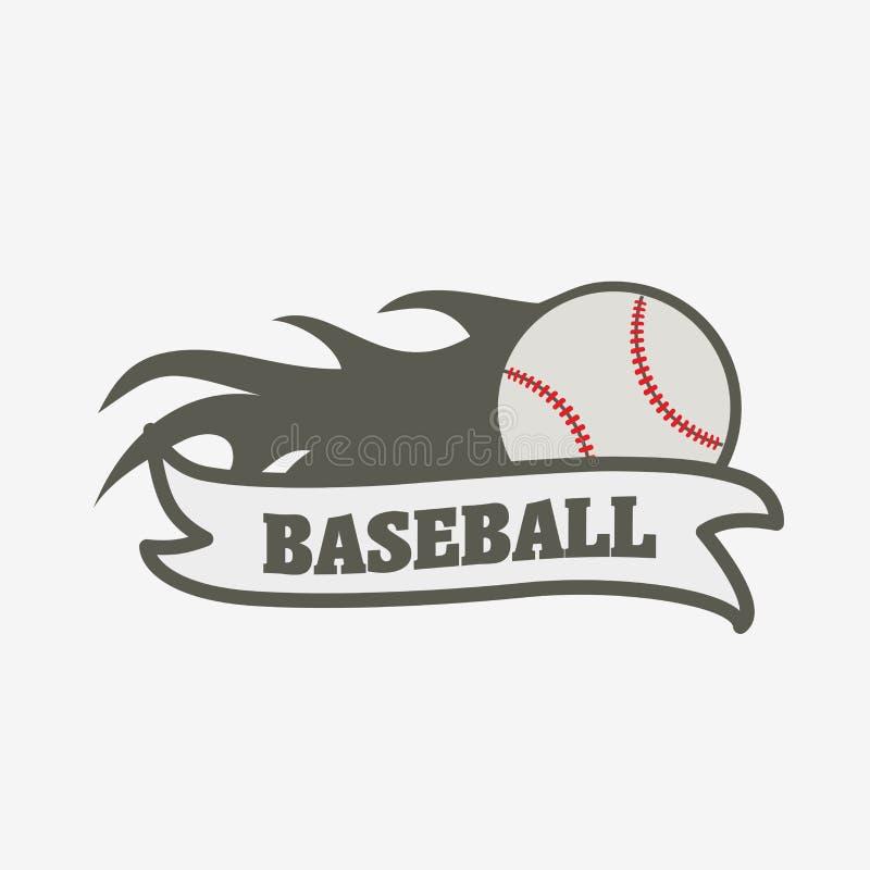 Baseball logo, badge or label design template. vector illustration