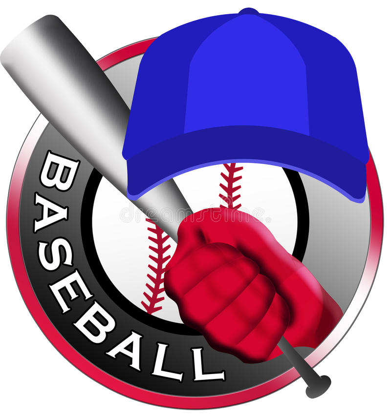 Baseball logo. With bat and cup royalty free illustration