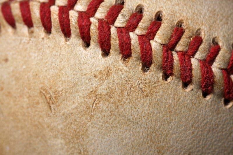 Baseball-Makroabschluß oben stockfoto