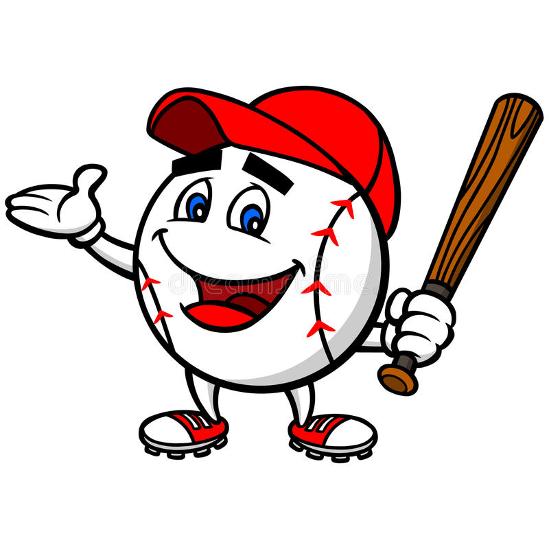 Baseball Mascot royalty free stock photo